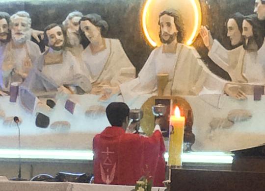 Cha Giuse Nguyễn Hoàng Thanh Dâng Thánh Lễ Đầu Tiên Tại Giáo Xứ BÌnh Chiểu