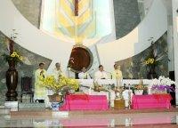 Hình ảnh Thánh Lễ Giao Thừa Tết Ất Mùi 2015 tại giáo xứ Tân Thái Sơn