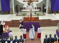 Giáo Dân Tân Thái Sơn Tham Dự Lễ Nghi Ngoài Phụng Vụ (Ngắm Đứng)