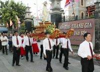 Giáo Dân Tân Thái Sơn Tham Dự Cuộc Rước Kiệu và Mừng Lễ Chúa Phục Sinh 2014
