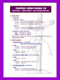 Gx TTS: Chương Trình Phụng Vụ Mùa Chay-Tuần Thánh-Phục Sinh